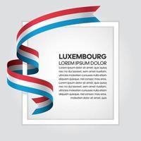 cinta de bandera de onda abstracta de luxemburgo vector