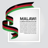 cinta de bandera de onda abstracta de malawi vector