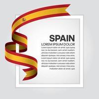 España bandera de onda abstracta cinta vector