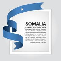 cinta de bandera de onda abstracta de somalia vector