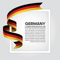 cinta de bandera de onda abstracta de alemania vector