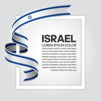 cinta de bandera de onda abstracta de israel vector