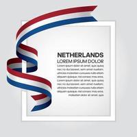 cinta de bandera de onda abstracta de países bajos vector