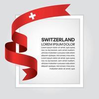 cinta de bandera de onda abstracta de suiza vector
