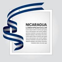 cinta de bandera de onda abstracta de nicaragua vector