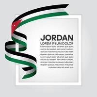 Jordan abstract wave flag ribbon vector