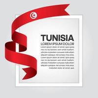 cinta de bandera de onda abstracta de tunusia vector