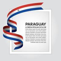 cinta de bandera de onda abstracta de paraguay vector