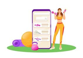 App for aerobics gear vector