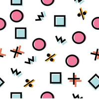 Memphis style pattern vector