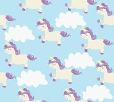 Seamless pattern of cute unicorns vector
