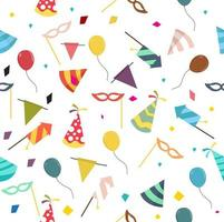 Seamless pattern of party and carnival elements