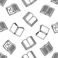 Seamless pattern of open books vector