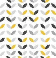 Seamless pattern of gray and yellow flowers