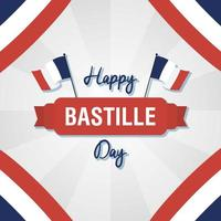 Bastille Day celebration card set with French icons