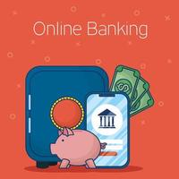 Online banking technology with smartphone
