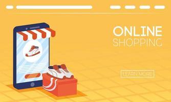 banner de compras online y comercio electrónico.