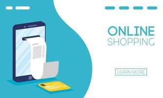 Online shopping and e-commerce banner vector