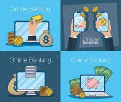 Online banking technology with electronic devices