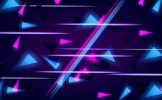 efecto de brillo cian y rosa de línea aleatoria vector