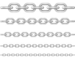 Metal chain links set vector