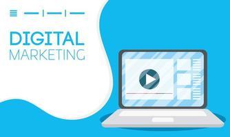 Digital marketing and social media banner vector