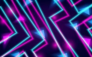 línea recta cian y rosa neón resplandor de color vector