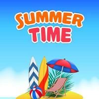 hola día de verano viaje vacaciones en isla tropical vector