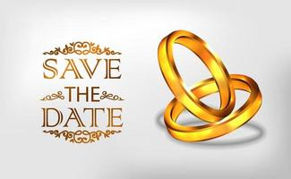 3D golden ring engagement propose wedding romantic