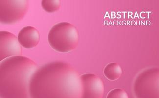 3D pink sphere ball vector