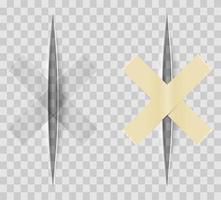 conjunto de cortes de papel realista vector