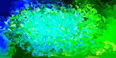 Light blue, green triangle mosaic pattern.