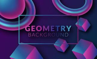 Fondo geométrico 3d abstracto moderno