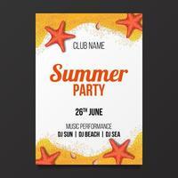 cartel de fiesta de playa de verano flyer banner elemento de diseño