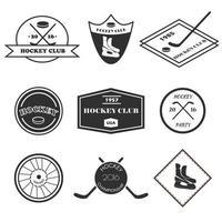 conjunto de logotipos de hockey.