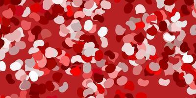 plantilla roja con formas abstractas.