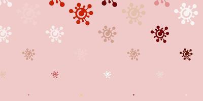 plantilla de color rojo claro con signos de gripe.
