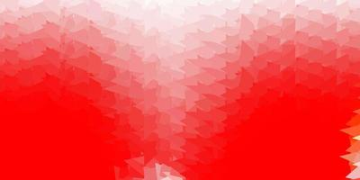 Light red abstract triangle backdrop.