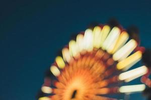 Out of focus Ferris wheel