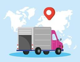 Delivery service composition with truck vector