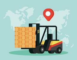 Delivery service composition with forklift vector