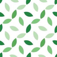 Hand drawn green colored leaves pattern