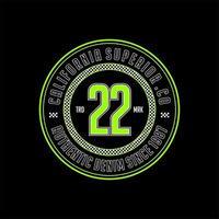 22 california superior vintage t-shirt design vector