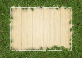 Christmas fir tree border for decor and picture vector