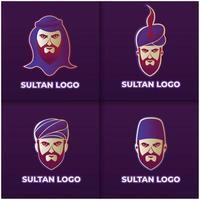 Sultan logo design set vector