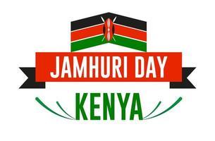 cartel del día de kenya jamhuri vector