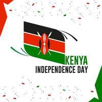 Fondo de pantalla del día de la independencia de Kenia con bandera de Kenia vector