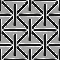 Hand drawn black, grey and white crossed lines pattern