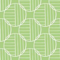Hand drawn white colored circles and lines on green pattern