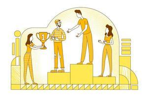 diseño de logros profesionales vector